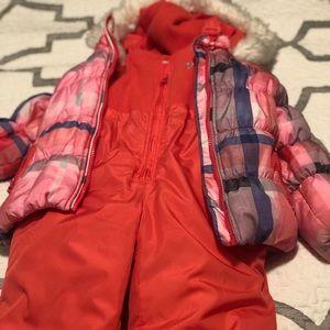 Snow bib and puffer jacket